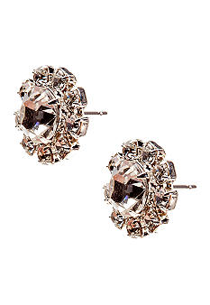 Kim Rogers Rhinestone Floral Stud Earrings
