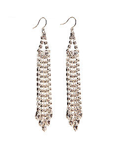 Kim Rogers Five Strand Long Rhinestone Earrings