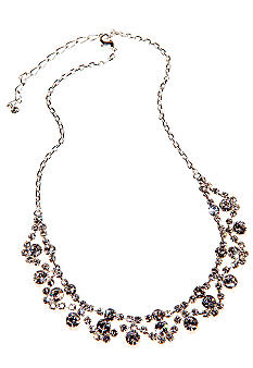Kim Rogers Crystal Frontal Swag Necklace