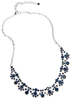 Kim Rogers Rhinestone Frontal Swag Necklace