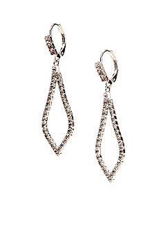 Kim Rogers Rhinestone Open Kite Drop Earrings
