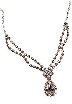 Kim Rogers Pear Drop Crystal Necklace