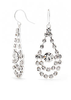 Kim Rogers Silver-Tone with Crystal Chandelier Earrings