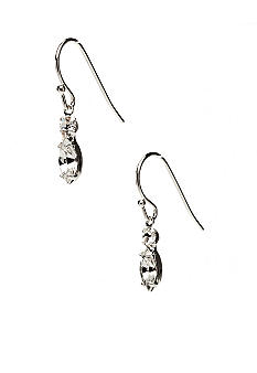 Kim Rogers Rhinestone and Navette Drop on Fishhook Earrings