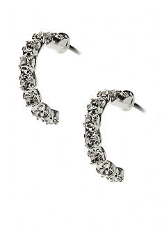 Kim Rogers Rhinestone Half Hoop Post Earrings