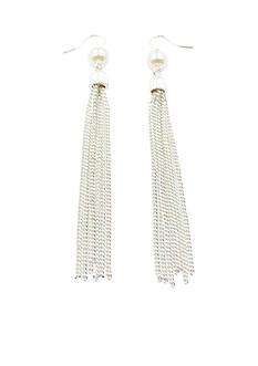 Kim Rogers Silver Tassel Earrings