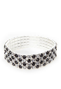 Kim Rogers Bracelet - Rhinestone Four Row Stretch