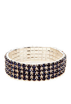 Kim Rogers Four Row Stretch Rhinestone Bracelet
