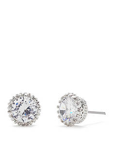 Kim Rogers Textured Bezel Set Cubic Zirconia Stud Earrings