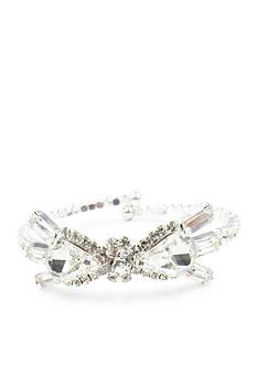 Kim Rogers Silver-Tone Crystal Fancy Coil Bracelet