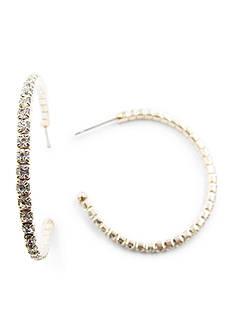 Kim Rogers Rose Gold-Tone Crystal Hoop earrings