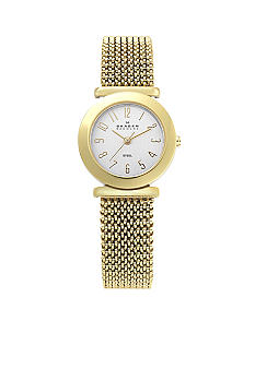 Skagen Stretch Mesh Watch in Gold