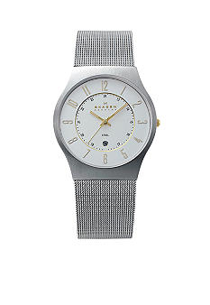 Skagen Steel Two-Tone on Mesh Watch