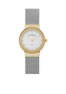Skagen Women's Two Tone Mesh Watch