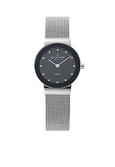 Skagen Glitzy Steel Mesh Watch
