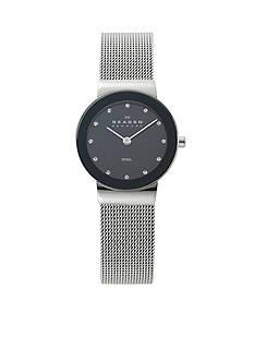 Skagen Glitzy Steel Mesh Watch