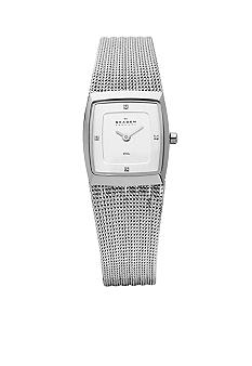Skagen Striped Mesh Women's Watch