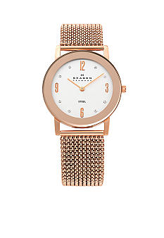 Skagen Rose Gold Stretch Mesh Watch