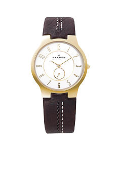 Skagen Brown Leather Watch