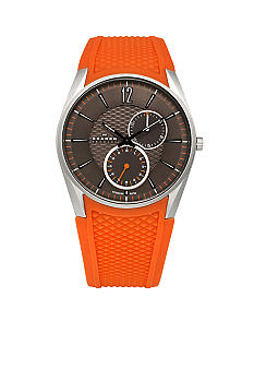 Skagen Orange and Gray Titanium Watch