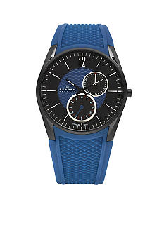 Skagen Black and Blue Titanium Watch