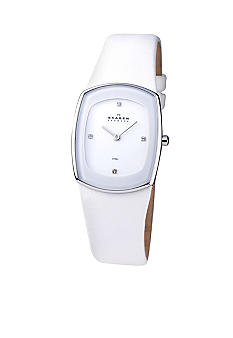 Skagen White Leather Watch