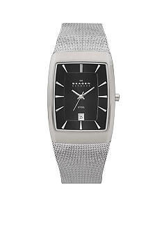 Skagen Silver Mesh with Rectangular Case Watch