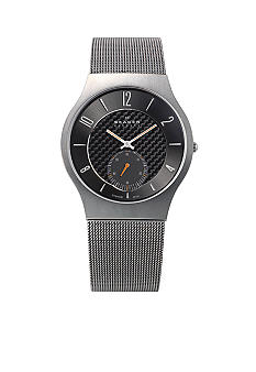 Skagen Titanium Case and Mesh Band Watch