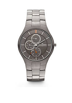 Skagen Men's Grenen Titanium Link Three Hand Watch