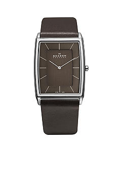 Skagen Mens Brown Leather Watch