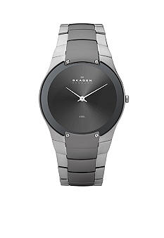 Skagen Men's Charcoal and Silver Link Watch
