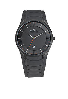 Skagen Mens Grey Rubber Strap Watch