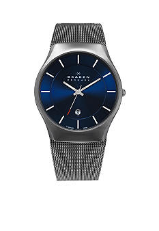 Skagen Men's Grey Mesh Titanium