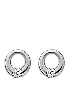 Skagen Silver-Tone Elin Crystal Circle Earrings