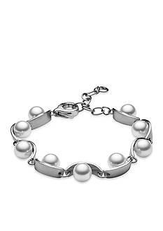 Skagen Silver-Tone Agnethe Pearl Bracelet