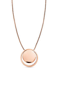 Skagen Rose Gold-Tone Elin Pendant Necklace