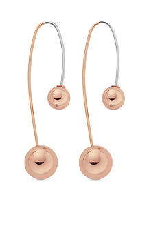Skagen Rose Gold-Tone Elin Linear Earrings