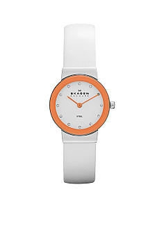 Skagen Ladies White Leather Watch
