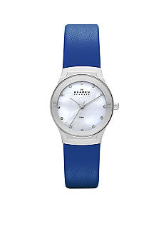 Skagen Ladies Blue Leather Watch