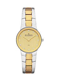 Skagen Women's Stine Two-Tone Link Two Hand Watch