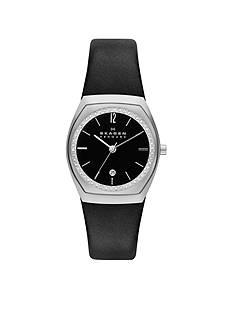 Skagen Women's Asta Black Leather Watch