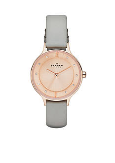 Skagen Women's Gray Leather Watch