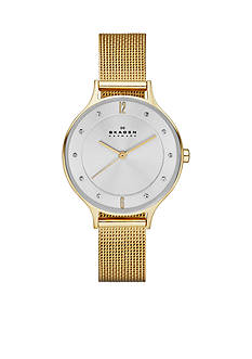 Skagen Women's Gold-Plated Mesh Watch