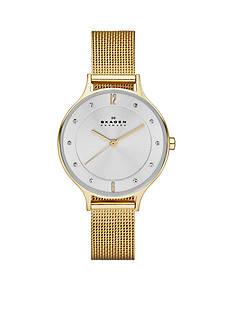 Skagen Women's Gold-Plated Mesh Watch