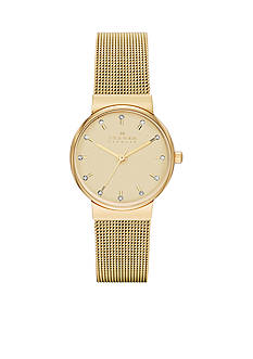 Skagen Women's Ancher Gold Mesh Watch