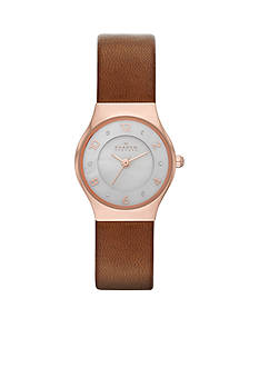 Skagen Women's Grenen Brown Leather Watch