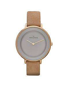 Skagen Women's Ditte Nubuck Leather Watch
