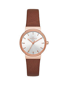 Skagen Ancher Brown Leather Watch