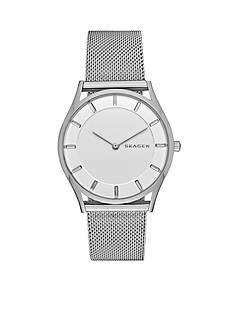 Skagen Women's Holst Silver-Tone Mesh Two Hand Watch