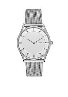 Skagen Women's Holst Silver-Tone Mesh Two Hand Watch